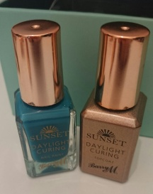 Barry M Sunset Nails The Way You Make Me Teal and Topcoat