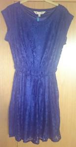 Yumi - Navy Blue Lace Dress
