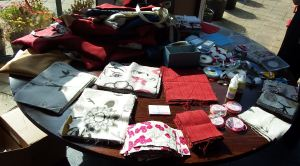 Table of fabrics