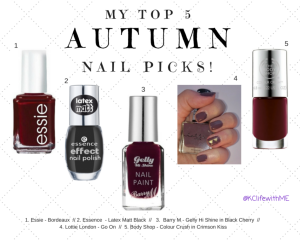 Top 5 Autumn Nail Picks