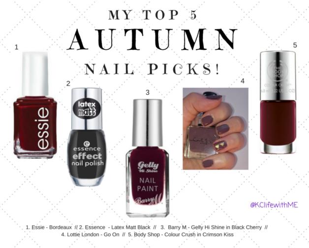 Top 5 Autumn Nail Picks