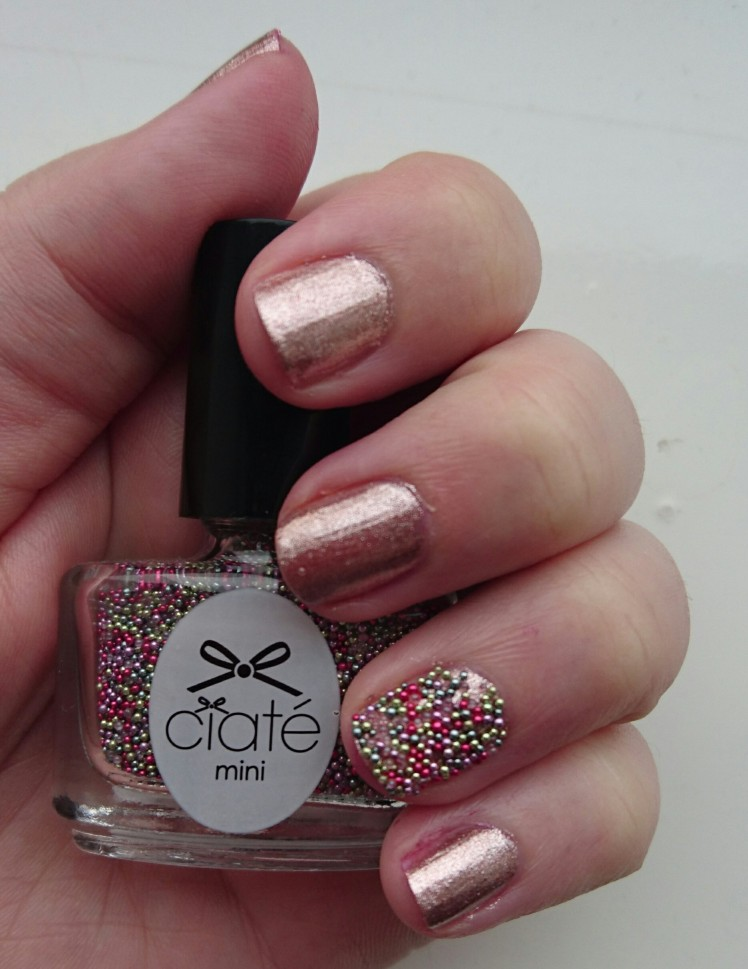 Orly Rose Chrome Foil and Ciate Caviar Ring a Rosy
