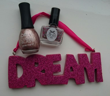 Orly Rose Chrome Foil Nail Varnish and Ciate Caviar Ring a Rosy