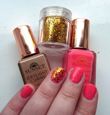 Barry M Sunset Nails in Peach for the Stars swatched on nails