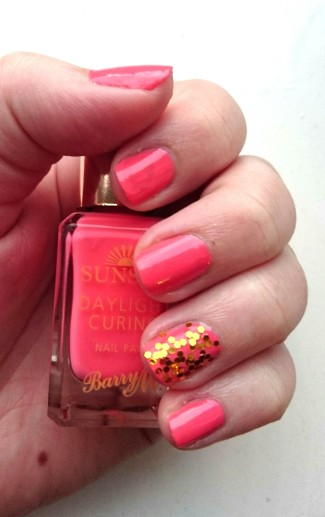 Barry M Sunset Nails in Peach for the Stars swatches