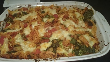 Batch cooking - pasta bake