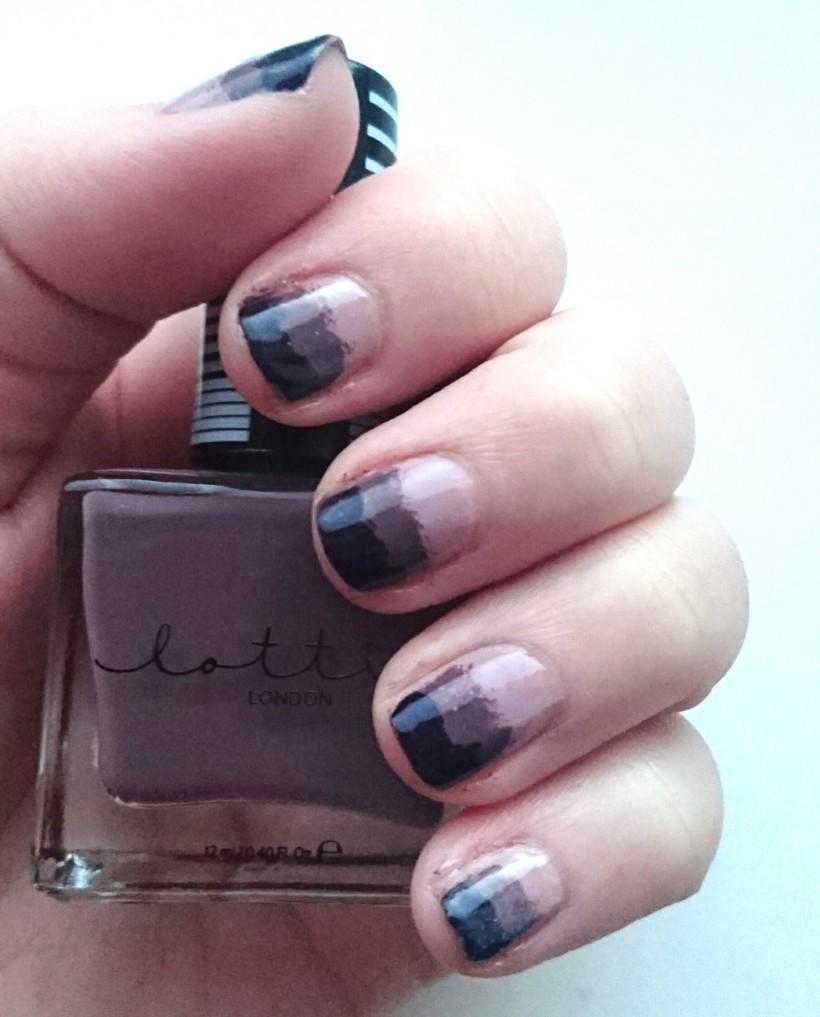 Purple Ombre Nails