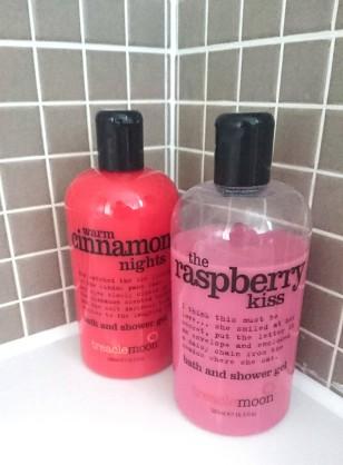 Treacle Moon Warm Cinnamon Nights and The Raspberry Kiss Bath & Shower Gel