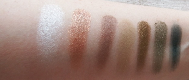 Makeup Revolution Fortune Favours The Brave Palette Swatches