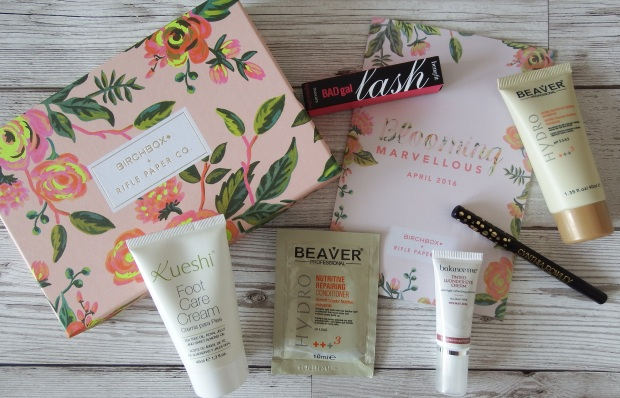Birchbox April 2016 - Birchbox x Rifle Paper Co - Blooming Marvellous