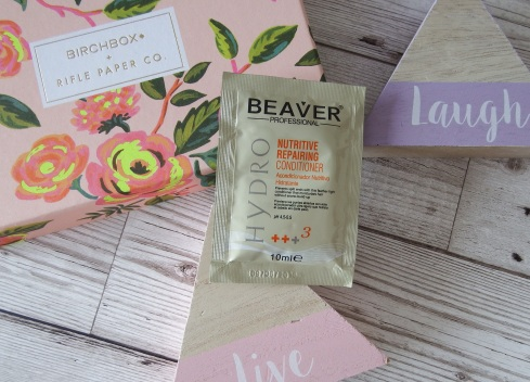 Beaver Professional Hydro Nutritive Repairing Conditioner Birchbox April 2016 - Birchbox x Rifle Paper Co - Blooming Marvellous