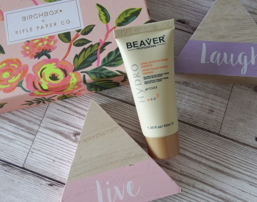 Beaver Professional Hydro Nutritive Shampoo Birchbox April 2016 - Birchbox x Rifle Paper Co - Blooming Marvellous