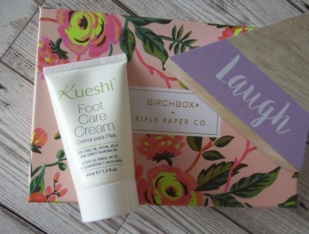 Kueshi - Foot Care Cream Birchbox April 2016 - Birchbox x Rifle Paper Co - Blooming Marvellous