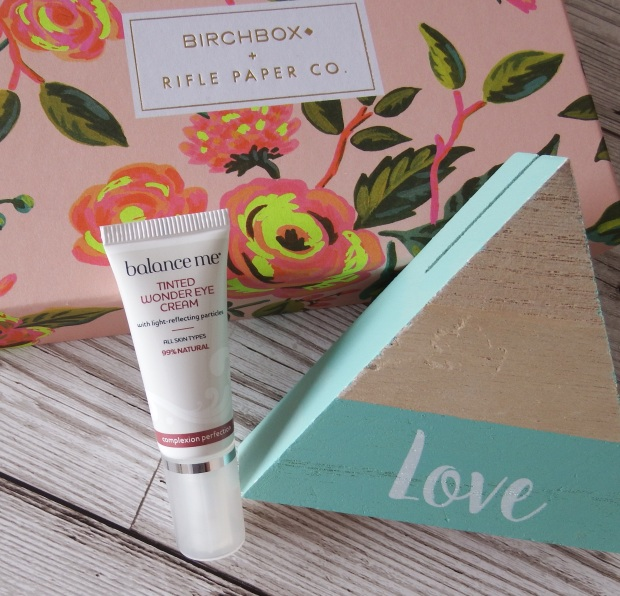 Balance Me Tinted Wonder Eye Cream Birchbox April 2016 - Birchbox x Rifle Paper Co - Blooming Marvellous